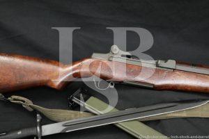 Springfield M1 Garand .30-06 Semi Automatic Rifle Bayonet 1944 C&R