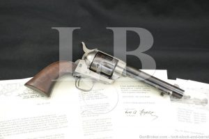 U.S. 1873 Artillery Colt .45 SAA Single Action Army Revolver, 1874 Antique