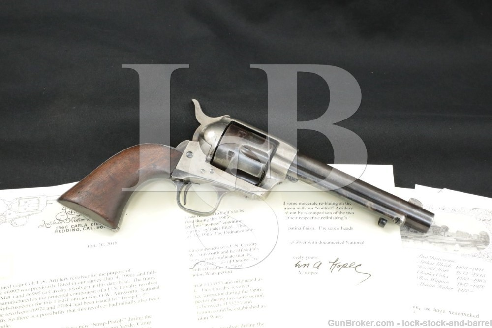 U.S. 1873 Artillery Colt .45 SAA Single Action Army Revolver, 1874 Antique