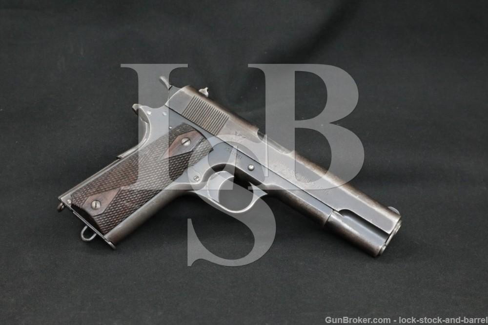 U.S. Springfield Armory Model 1911 .45 ACP Semi-Automatic Pistol, 1914 C&R