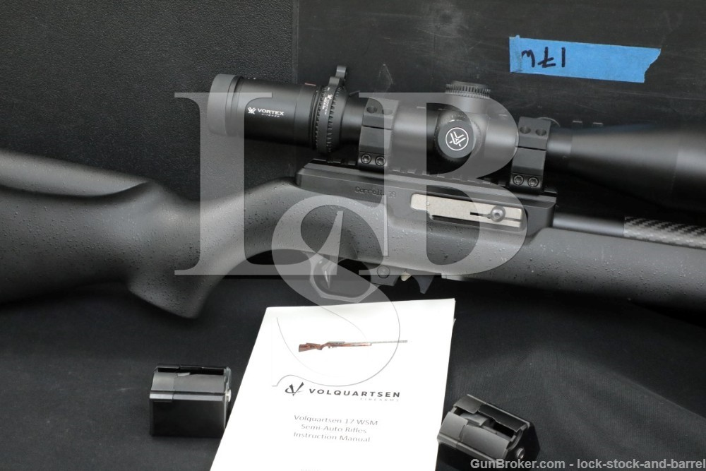 Volquartsen Model SM S-M .17 WSM Carbon Fiber Semi-Auto Rifle, 2017-2021