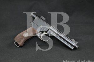 WWI Austrian Steyr Roth Krnka M1907 8x18mm Semi-Automatic Pistol, 1909 C&R