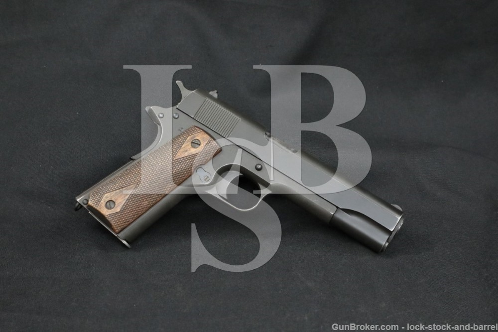 WWI Colt Model of 1911 U.S. Army .45 ACP Semi-Auto Pistol, MFD 1918 C&R