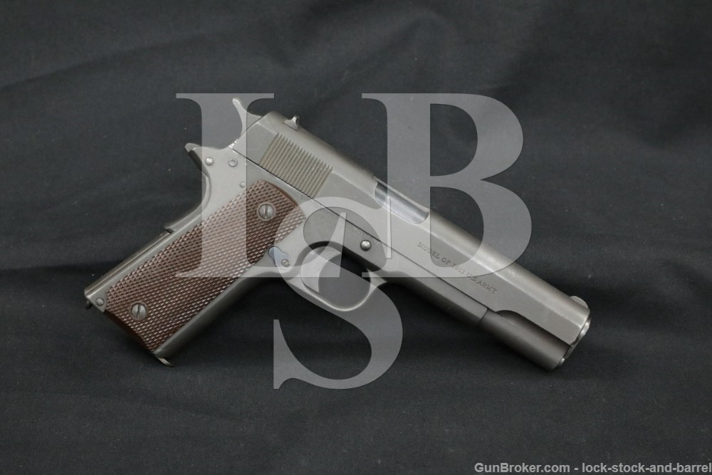 WWI Colt Model of 1911 U.S. Army .45 ACP Semi-Automatic Pistol, 1918 C&R