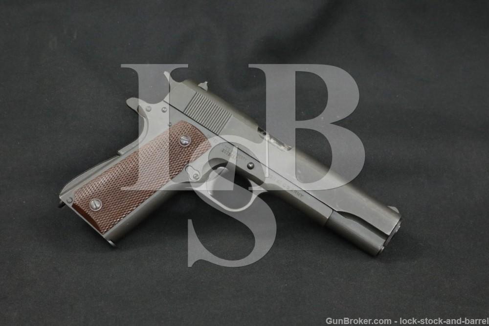 WWII Ithaca British Lend-Lease US M1911A1 .45 ACP Semi-Auto Pistol 1945 C&R