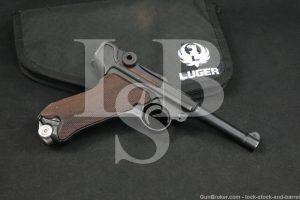 WWII Nazi German Mauser byf P.08 P08 Luger 9mm Semi-Auto Pistol, 1942 C&R