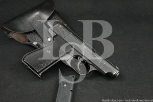 WWII Nazi J.P. Sauer & Sohn Model 38H 38-H 32 ACP 7.65 Semi-Auto Pistol C&R