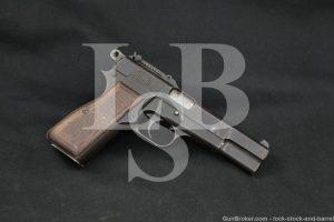 WWII Nazi Marked FN P35 M1935 Hi Power Tangent Sight 9mm Semi-Auto C&R