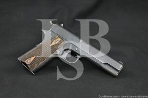 WWII Nazi Occupied Norwegian Kongsberg M1914 Semi-Auto Pistol, MFD 1942 C&R