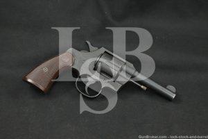 """WWII U.S. Colt Commando Model 4"""" .38 Special SA/DA Revolver, MFD 1942 C&R"""