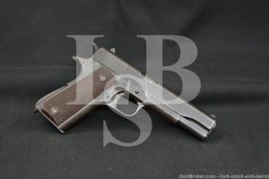 WWII US Colt 1911A1 1911-A1 SMP Marked .45 ACP Semi-Auto Pistol, 1944 C&R