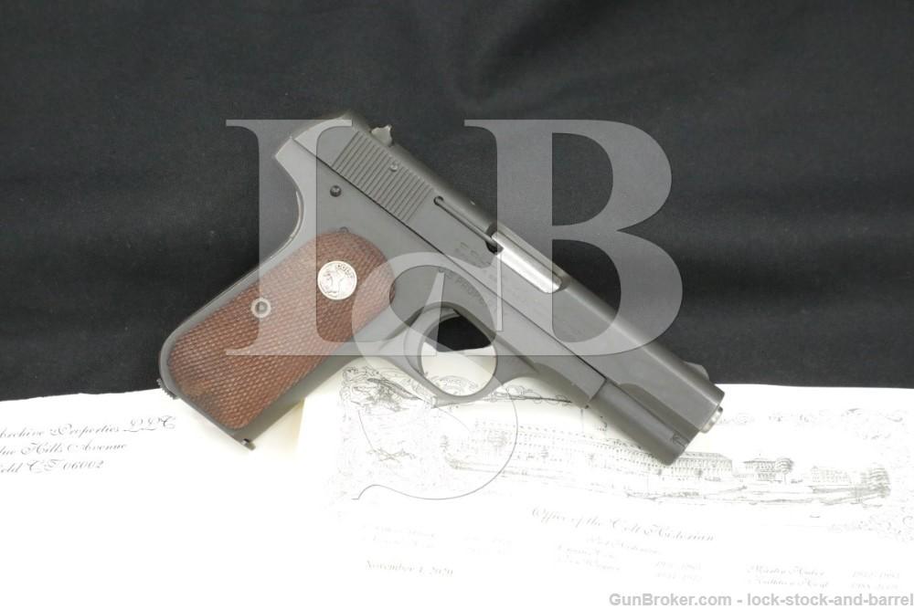 WWII US Marked Colt 1903 Pocket Hammerless 32 ACP Semi-Auto Pistol 1942 C&R