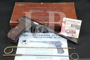 """Walther Manurhin Model PP Sport, .22 LR 8.25"""" SA/DA Semi-Auto Pistol, 1985"""