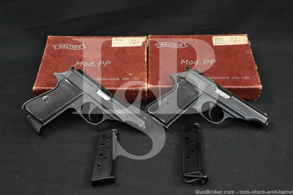 Walther Model PP Consecutive Pair, .32 ACP 7.65mm Semi-Automatic Pistols