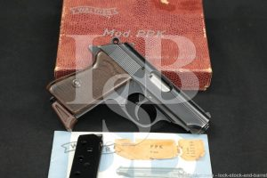 Walther West Germany PPK .380 ACP 9mm Kurz Semi-Automatic Pistol, 1965 C&R