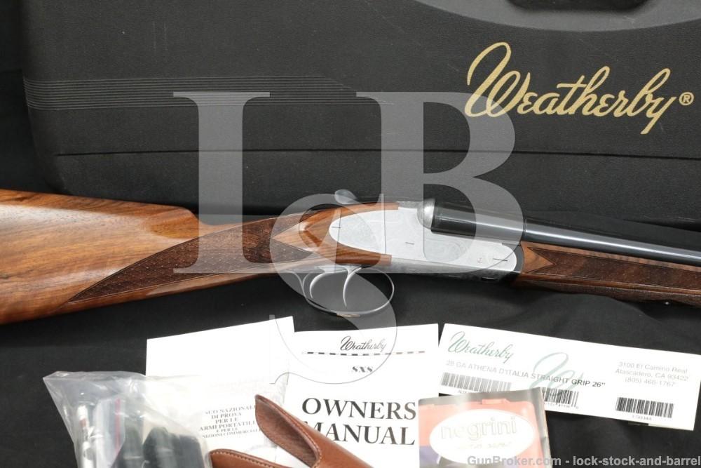 Weatherby Fausti Athena D'Italia 28 GA 26″ M/IC SXS Side by Side Shotgun