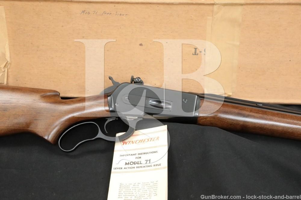 Winchester Model 71 Like 1886 Post-War .348 WCF Lever Rifle & Box, 1954 C&R