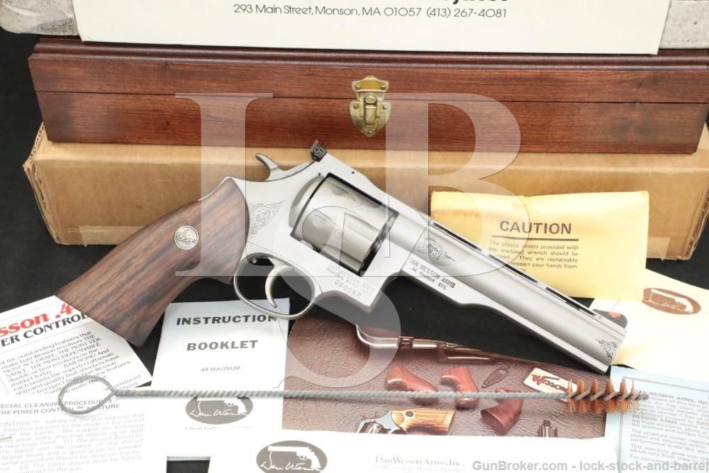 62 of 250 Engraved Dan Wesson Monson 44V 44-V .44 Mag 6″ Revolver