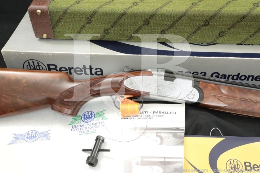 "Beretta Model 687DU 687 Ducks Unlimited 12 GA 28"" Over Under Shotgun 1989"