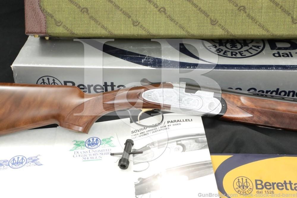 "Beretta Model 687DU 687 Ducks Unlimited 20 GA 26"" Over Under Shotgun 1988"