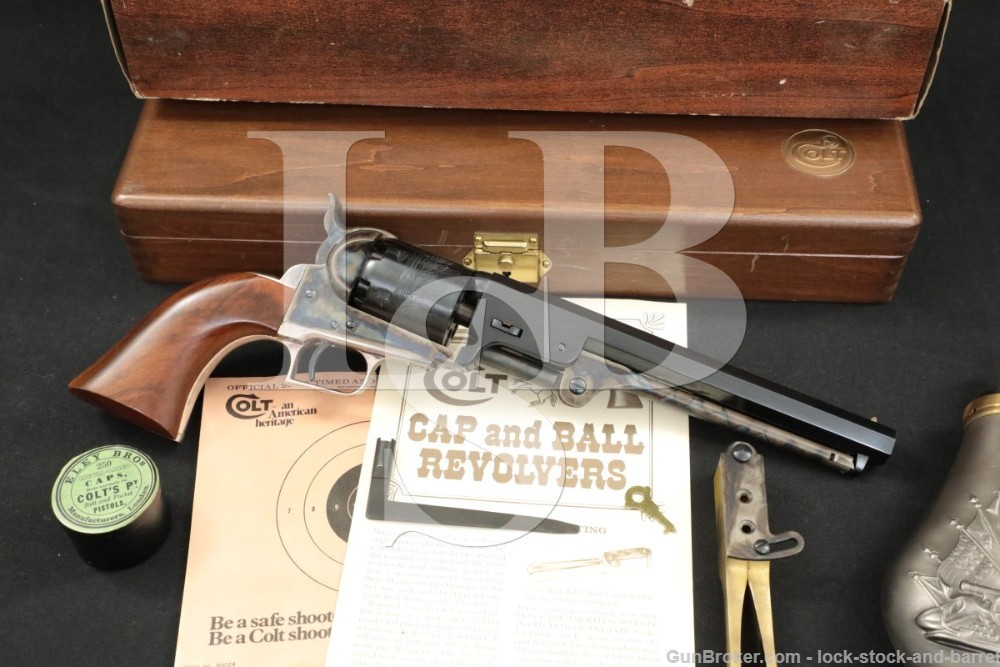 "Colt Model 1851 Navy 2nd Gen C Series .36 Cal 7.5"" Cap & Ball Revolver 1977"