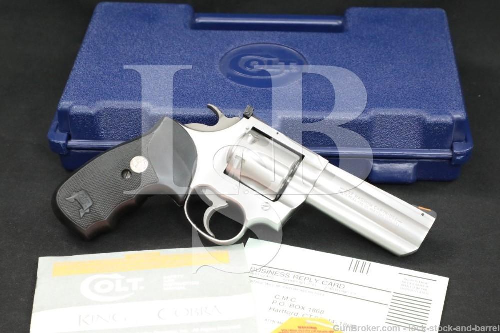 "Colt Model King Cobra AA3040 .357 Magnum 4"" Stainless DA/SA Revolver 1996"