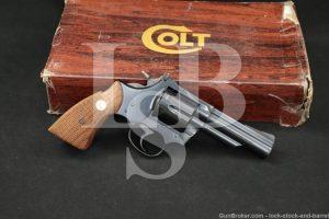 "Colt Model Trooper MK III MKIII Mark 3 .22 WMR 4"" DA/SA Revolver MFD 1979"