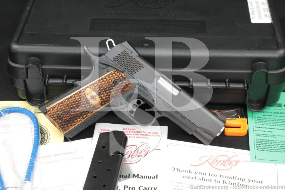 "Kimber Custom Shop Pro Raptor II 2 .45 ACP 4"" 1911 Semi-Auto Pistol"