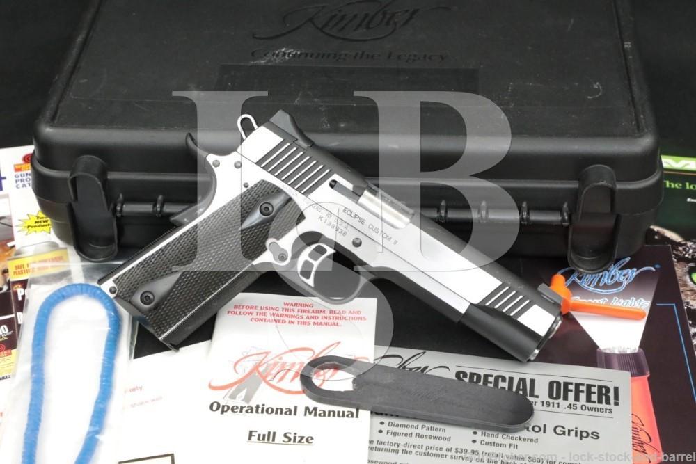 "Kimber Model Eclipse Custom II 2 .45 ACP 5"" 1911 1911A1 Semi-Auto Pistol"