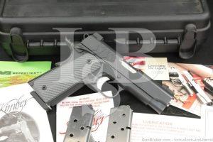 "Kimber Model SIS Pro .45 ACP 4"" 1911 1911A1 Semi-Automatic Pistol 2008-2009"