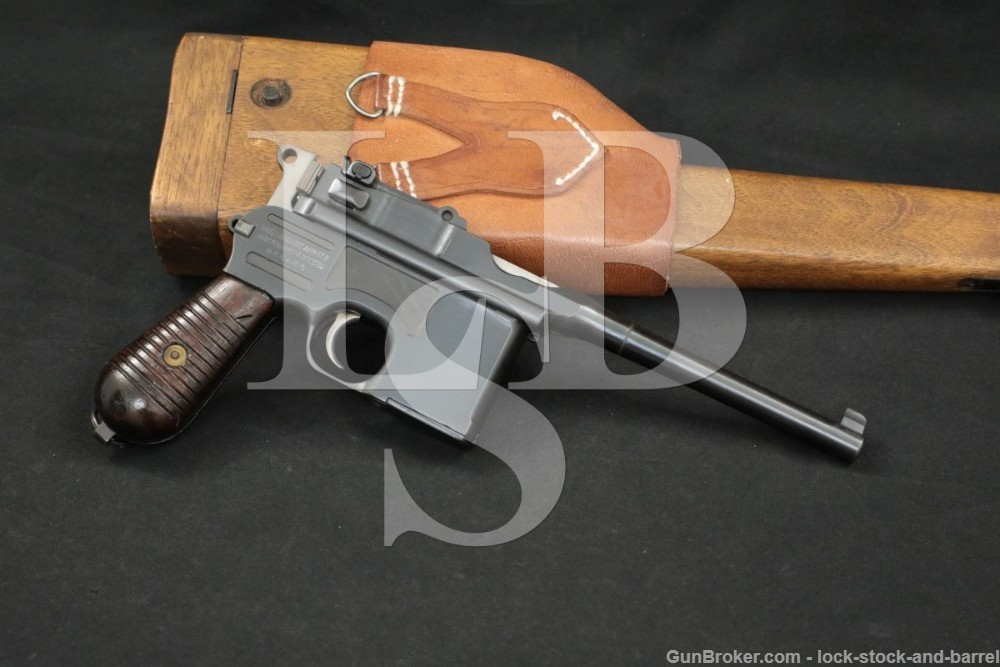 Mauser Model 1930 M30 C96 Broomhandle 7.63x25mm Semi-Automatic Pistol, C&R