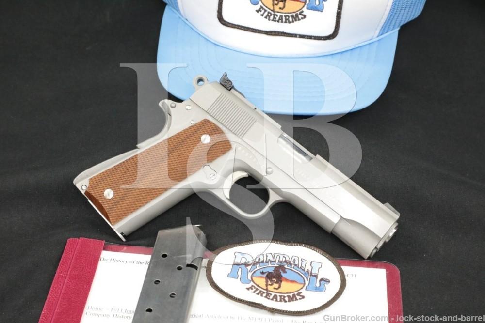 Randall Firearms Service Model-C .45 ACP 4.25″ Semi-Auto Pistol 1983-1985