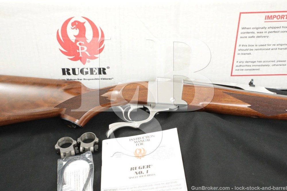 Ruger No. 1 No-1 #1 11309 KA-1 7.62x39mm Stainless Single Shot Rifle, 2003