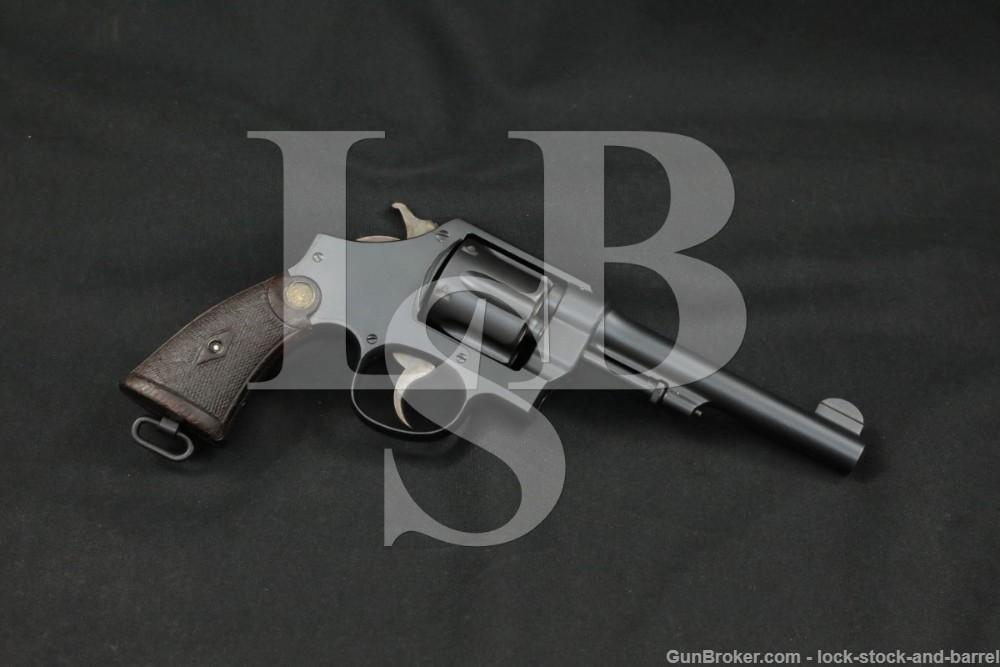 "Smith & Wesson S&W U.S. Model 1917 .45 ACP Hand Ejector 5.5"" Revolver C&R"