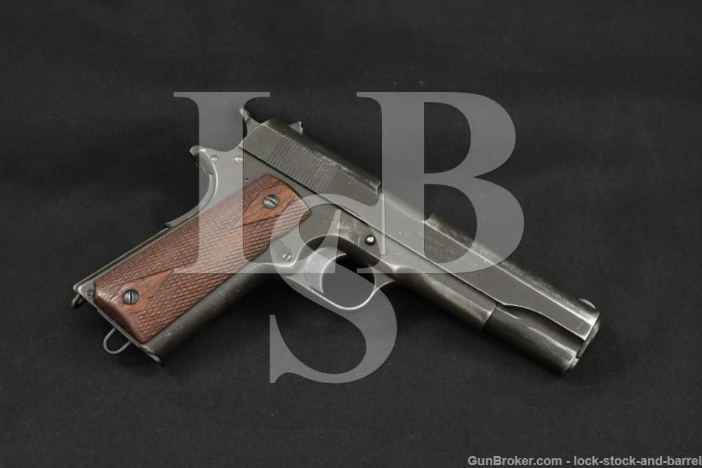 WWI Colt Frame Remington UMC Slide Model of 1911 U.S. Army .45 ACP 1913 C&R