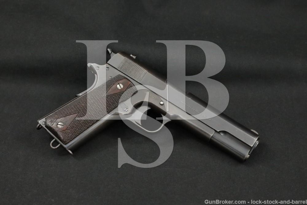 WWI Colt Model of 1911 U.S. Army .45 ACP Semi-Automatic Pistol, 1913 C&R