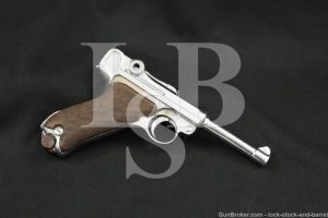 WWI German Erfurt P.08 P08 P-08 Luger 9mm Semi-Auto Pistol, 1920/1917 C&R