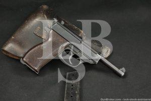 WWII Nazi German Mauser P.38 P38 P-38 byf-44 9mm Semi-Auto Pistol, 1944 C&R