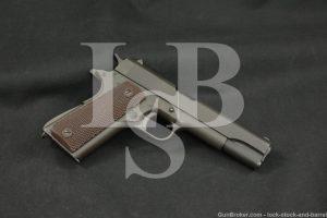 WWII U.S. Colt Model 1911-A1 M1911A1 .45 ACP Semi-Auto Pistol, MFD 1944 C&R