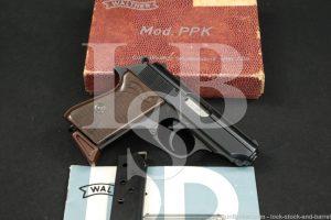 Walther Model PPK 9mm Kurz .380 ACP Blue Semi-Automatic Pistol MFD 1965 C&R