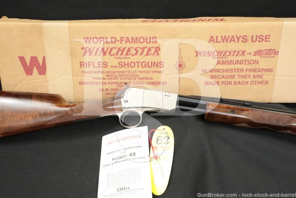 Winchester Marked Receiver 62A Gallery Gun .22 Short Pump Rifle, 1958 C&R