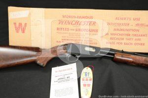 "Winchester Model 61 .22 Magnum 24"" Slide Pump Action Rifle, MFD 1959 C&R"