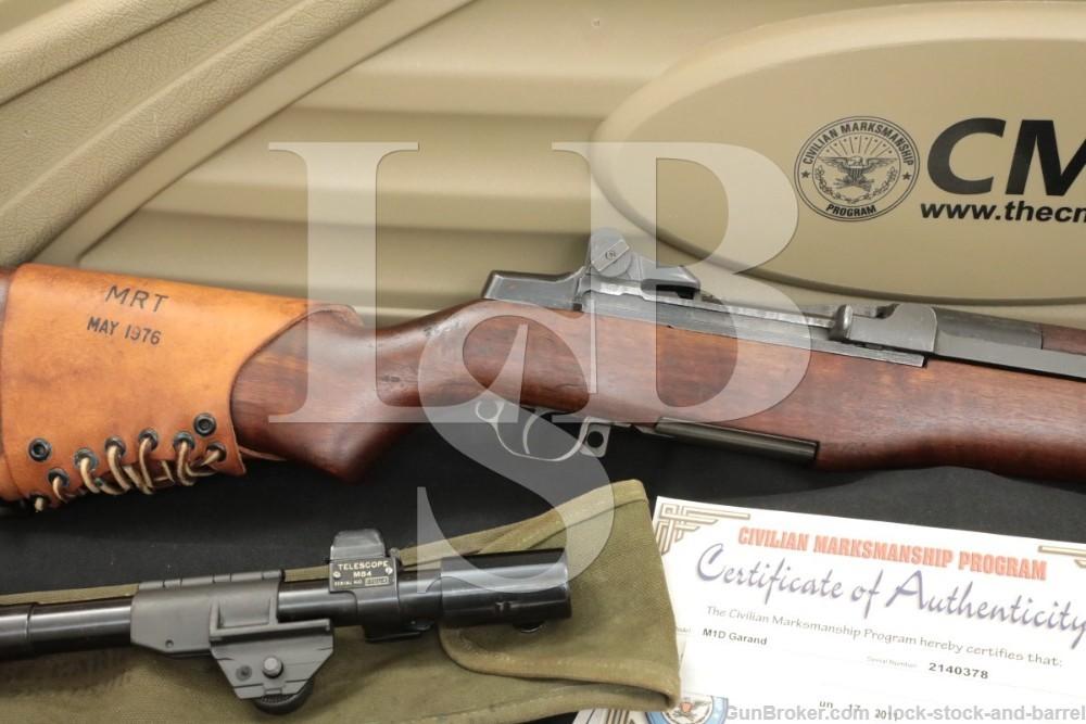 Springfield M1D Garand Sniper CMP .30-06 Semi Auto Rifle Scope Case C&R