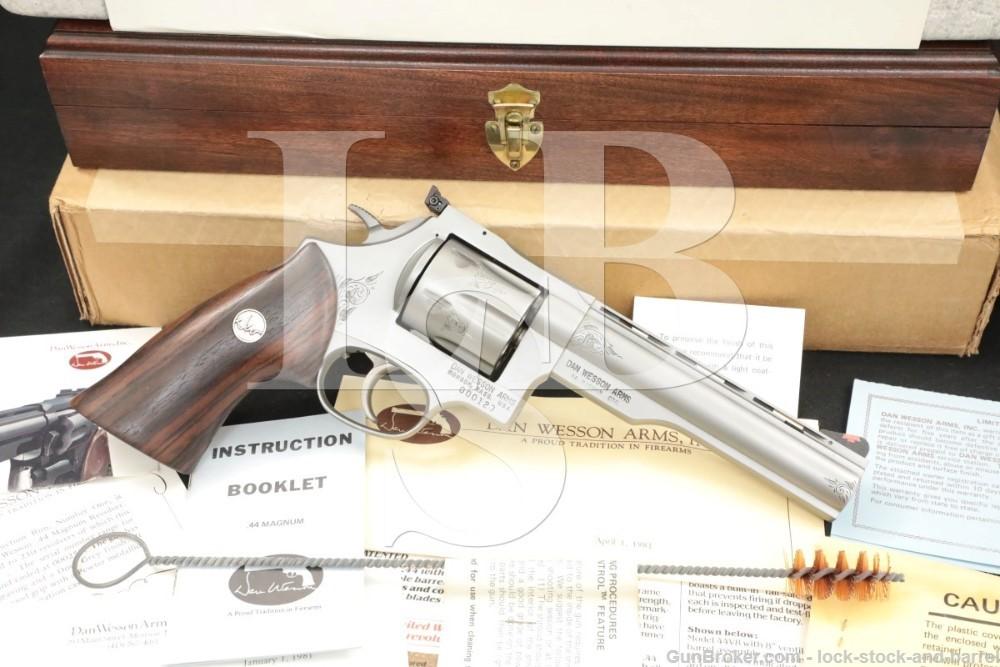 """123 of 250 Engraved Dan Wesson Monson 44V 44-V .44 Mag 6"""" Revolver"""