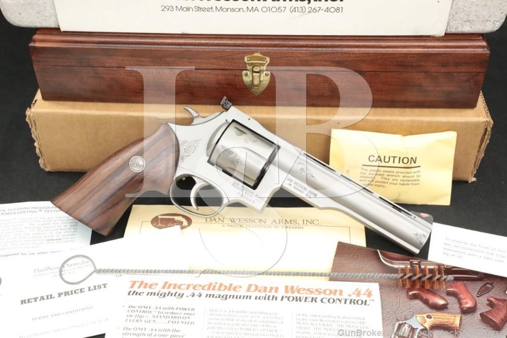 """63 of 250 Engraved Dan Wesson Monson 44V 44-V .44 Mag 6"""" Revolver"""