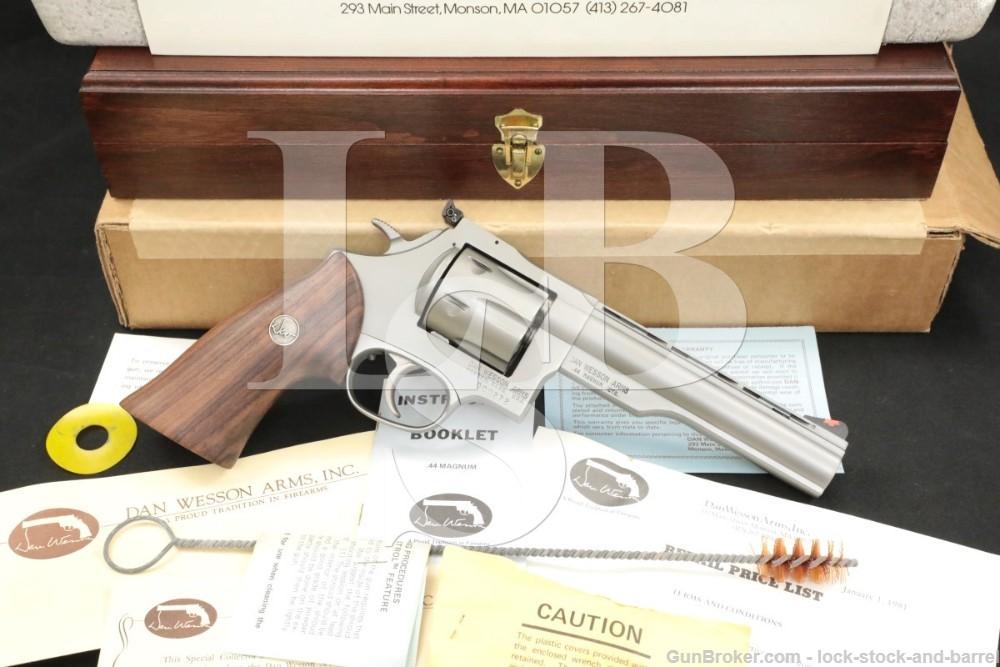 72 of 250 Dan Wesson Monson Model 44V Second Run .44 Mag 6″ Revolver