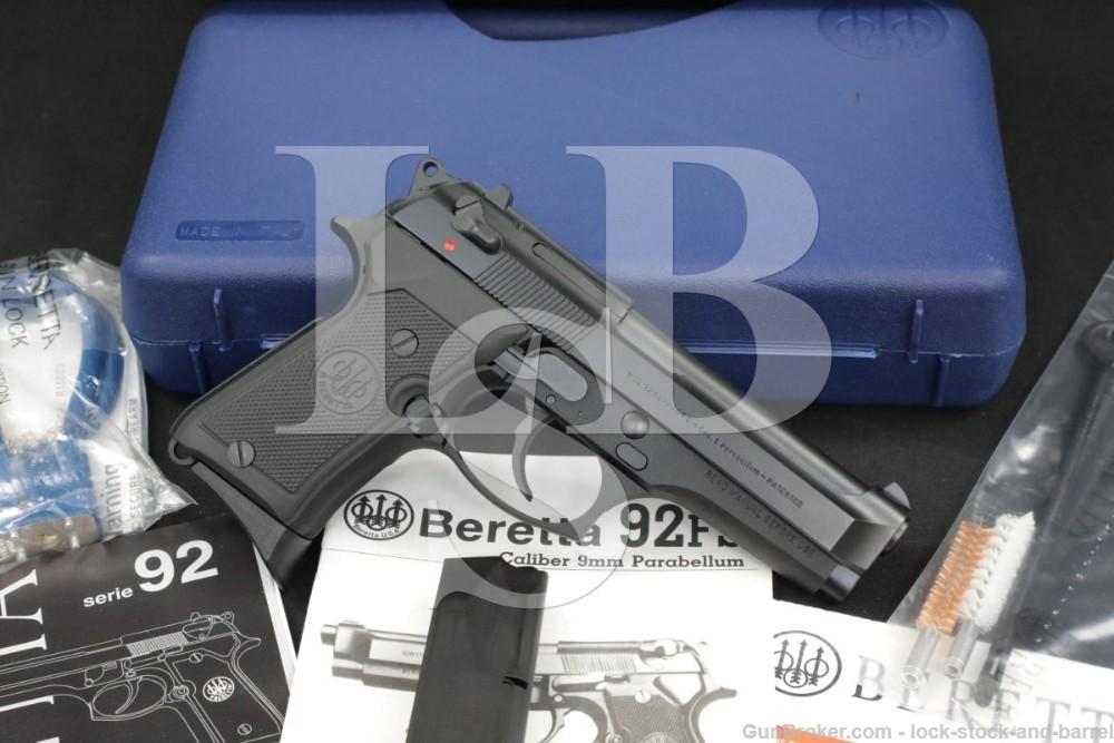 Beretta 92 Compact JS92F850M 9mm DA/SA Semi-Automatic Pistol, 2018