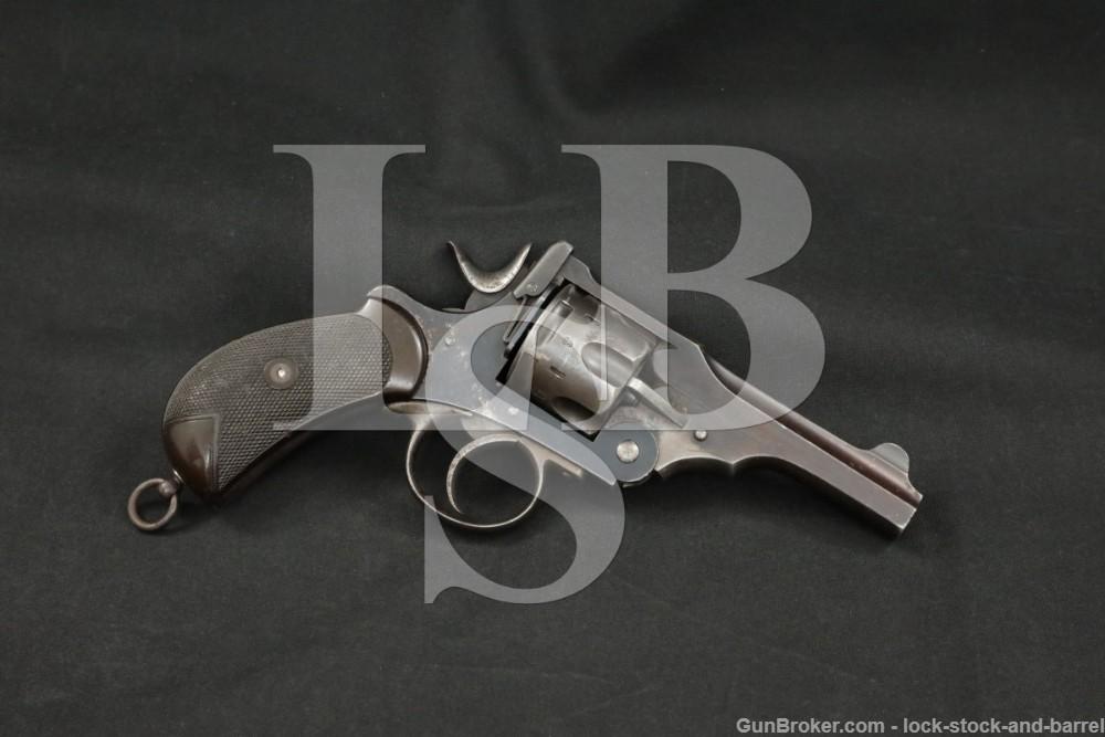 British Webley Mark I MKI .45 ACP Service Revolver, MFD 1890-1894 Antique