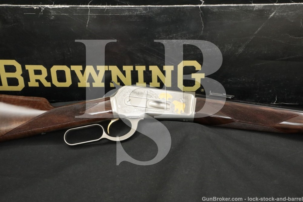 Browning 1886 45-70 Gov't Greyed Steel Engraved Lever Action Rifle MFD 1992