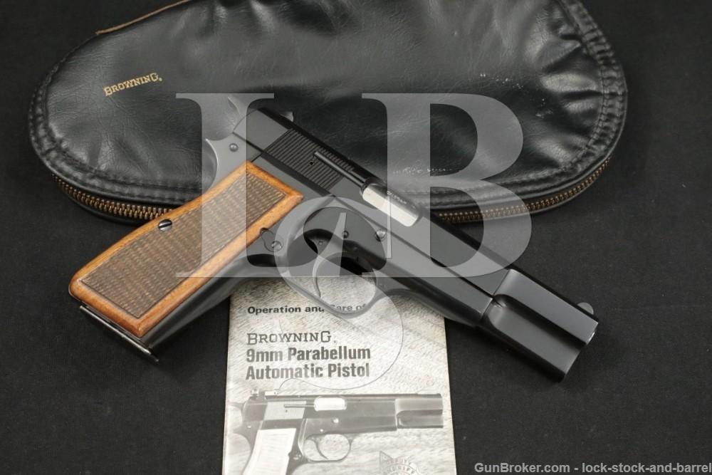 "Browning High Hi Power C-Series 9mm 4 5/8"" Semi-Automatic Pistol, MFD 1972"